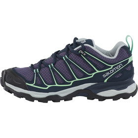 Salomon X Ultra Prime Hiking Shoes Damen Artist Grey-X/Deep Blue/Lucite Green